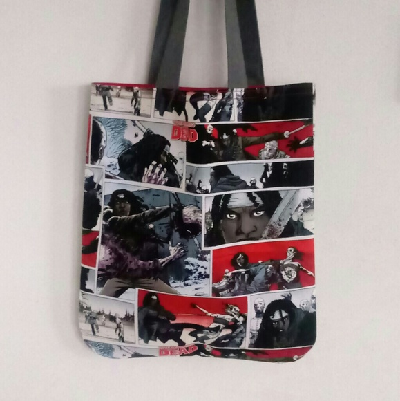 Handmade Handbags - The Walking Dead, Woman With Sword Inspired Tote,